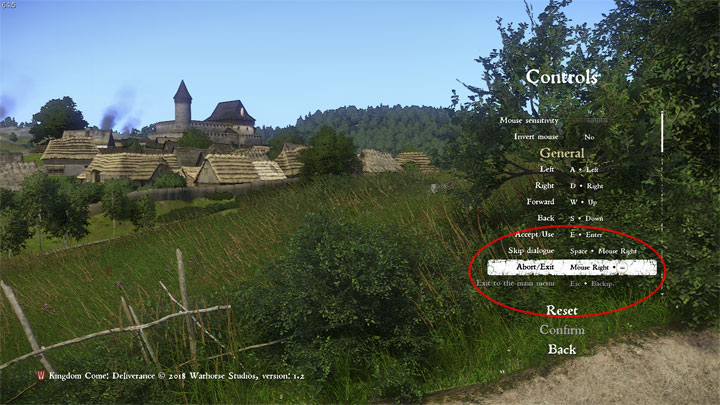 Kingdom Come: Deliverance mod More Functions for Mouse Right Button v.1.1
