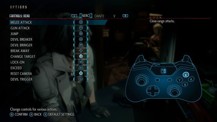 Devil May Cry 5 GAME MOD Switch Pro Controller Button Layout