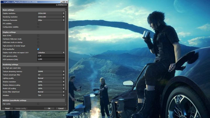 Final Fantasy XV: Windows Edition GAME MOD Luminous Engine