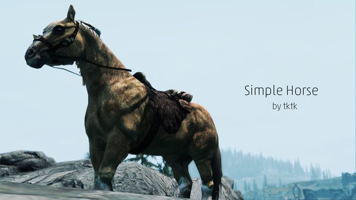 The Elder Scrolls V: Skyrim GAME MOD Simple Horse v 1 2