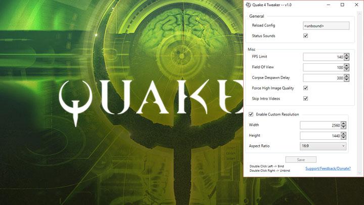 Quake 4 GAME MOD Quake 4 Tweaker v 1 1 - download