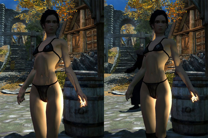 Comparision: vanilla on the left, modded on the right - 2019-01-06