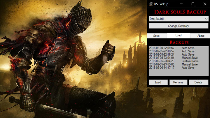Dark Souls III GAME MOD Dark Souls 3 Backup Manager v 1 0 - download