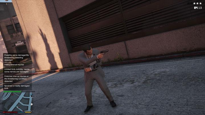 Grand Theft Auto V GAME MOD GunShot Wound v 29042018