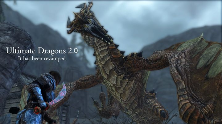 The Elder Scrolls V: Skyrim GAME MOD Ultimate Dragons v 2 1