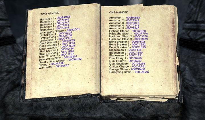 Skyrim ps3 cheats codes
