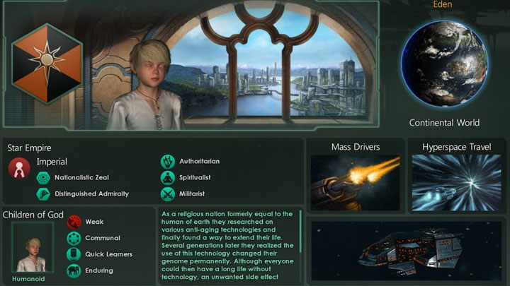 Stellaris mod Children of God Empire v.1.6