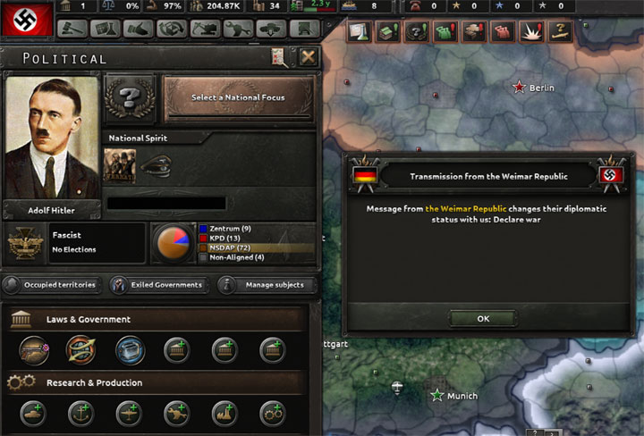 Hearts of Iron IV mod Beer Hall Putsch 1923 v.0.3