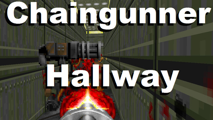 Doom 1993 Game Mod Chaingunner Hallway Download Gamepressurecom