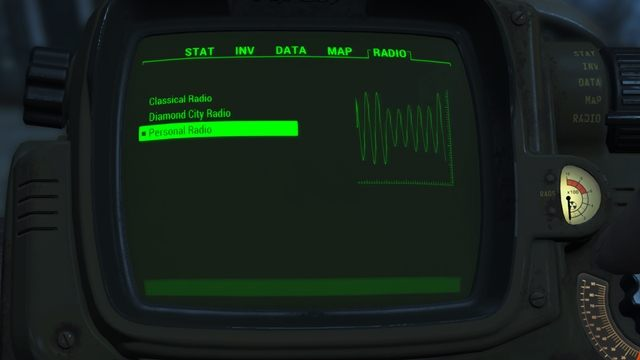 Fallout 4 GAME MOD Personal Radio v 0 9a - download