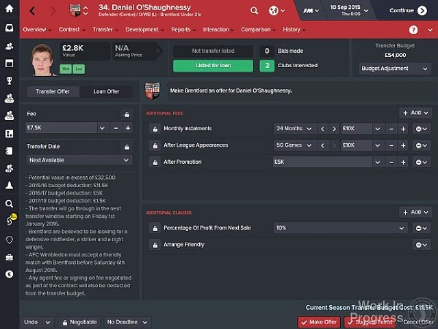 Panel transferowy w Football Manager 2016 - Zapowiedziano gry Football Manager 2016, Football Manager Touch i Football Manager Mobile - wiadomość - 2015-09-07