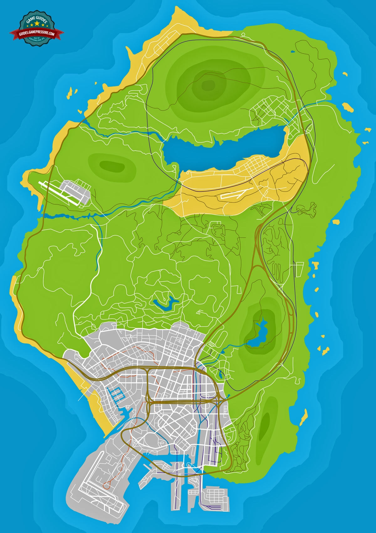 GTA V Map - Letter scraps