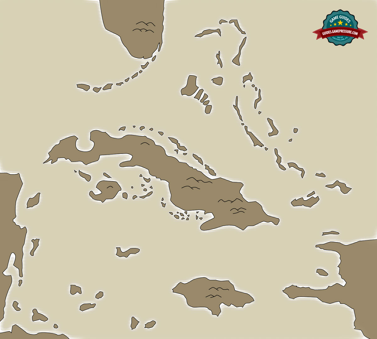 Map of Caribbean - Assassin's Creed IV: Black Flag
