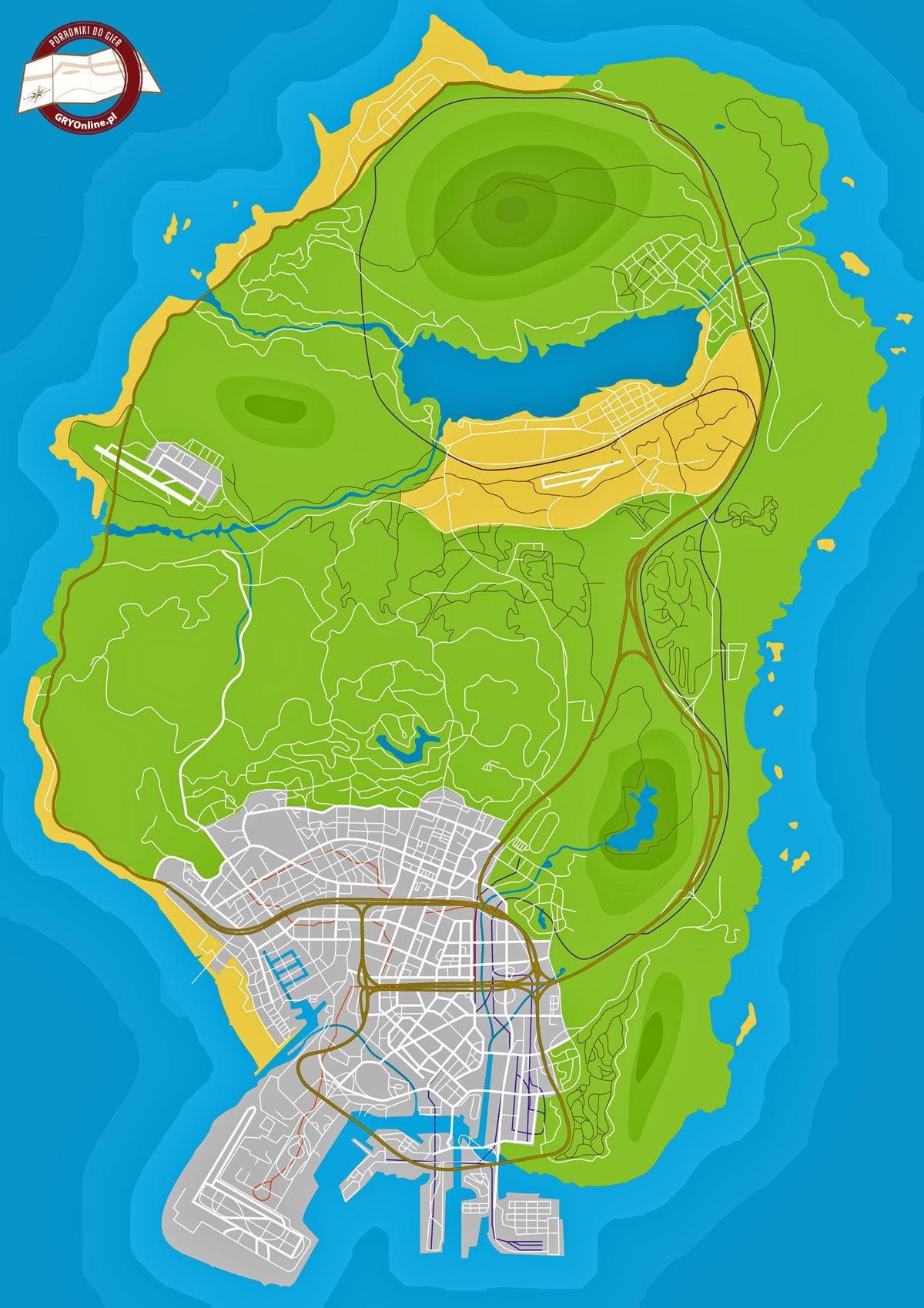 Mapa GTA V - Ukryte paczki