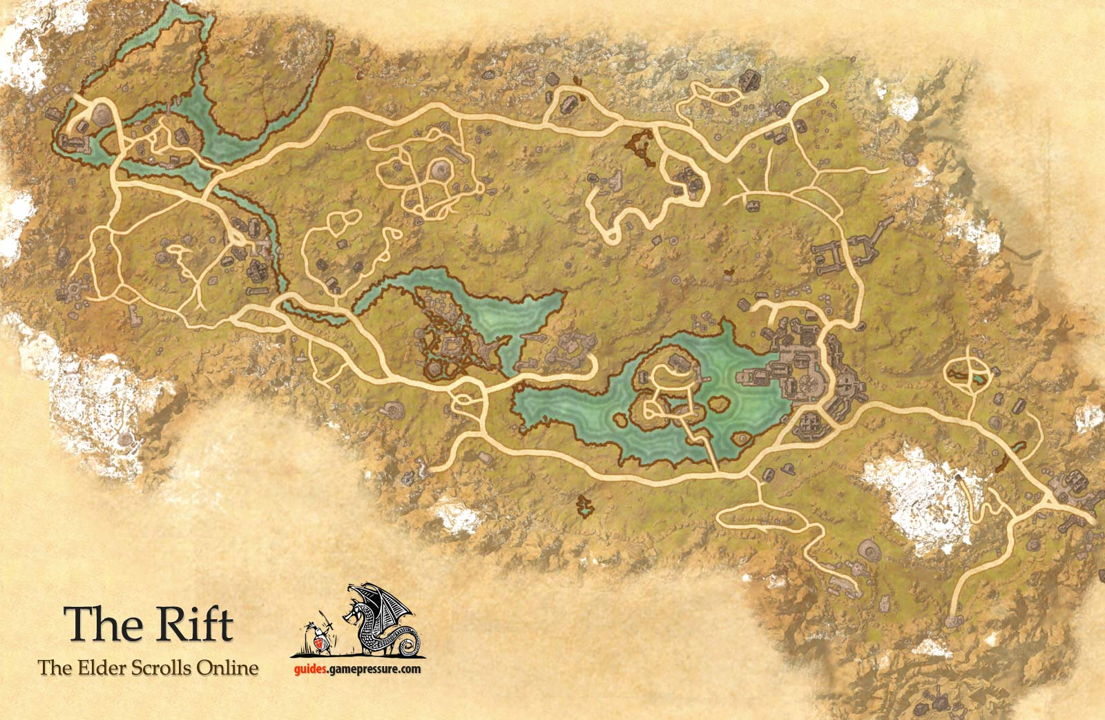 The Rift Ebonheart Pact The Elder Scrolls Online World atlas The Elde