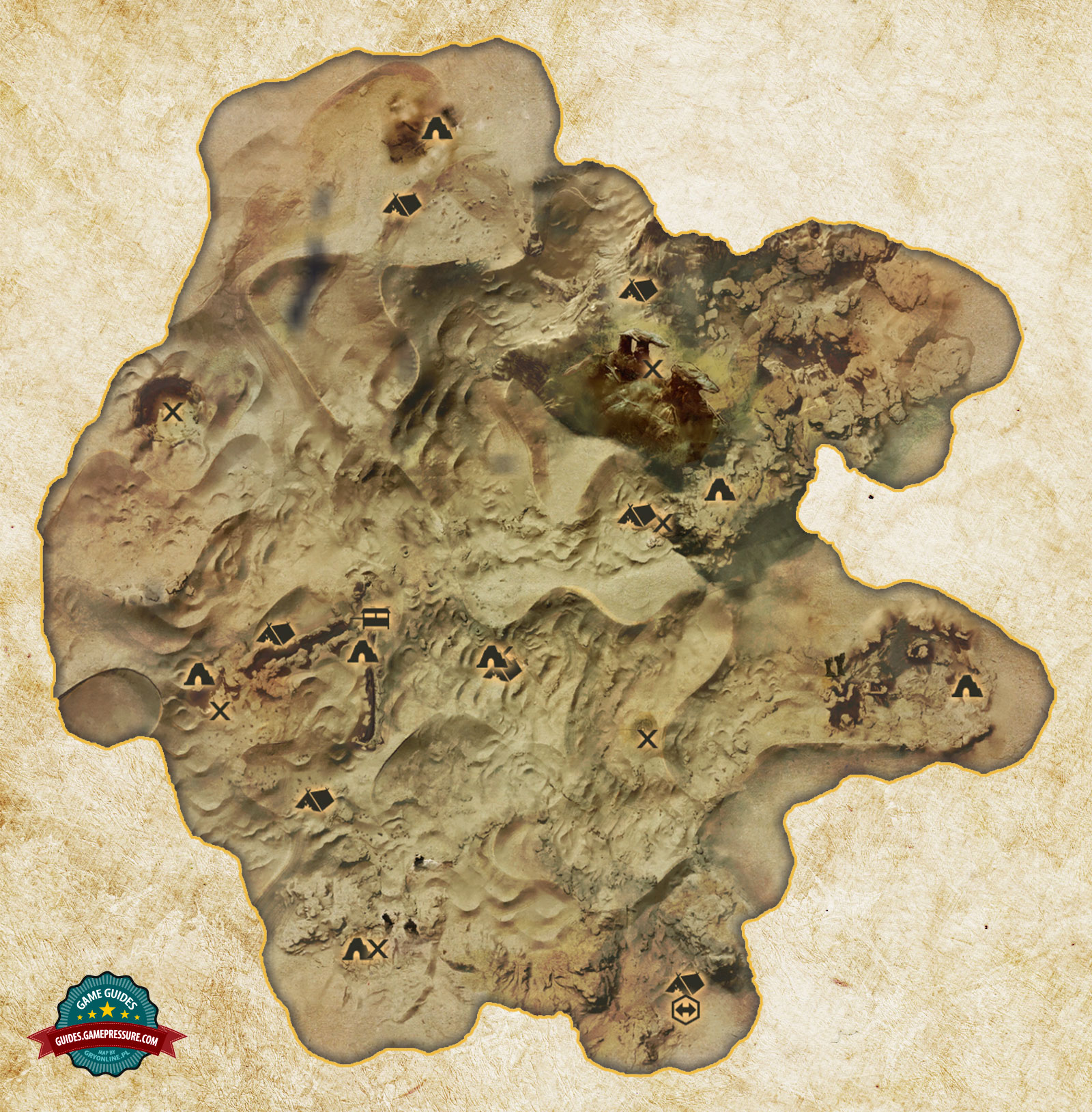 Hissing Wastes Map