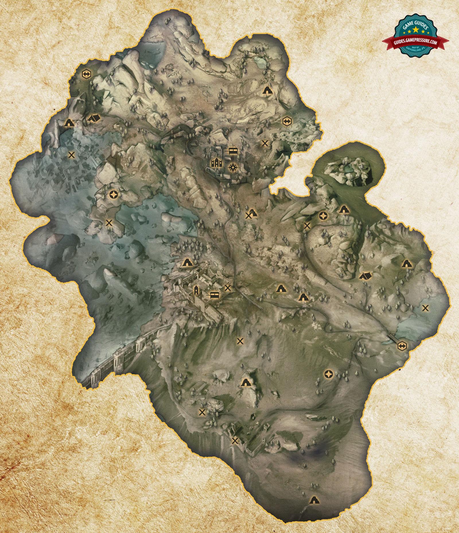 Dragon Age Inquisition Map Map Hinterlands Dragon Age