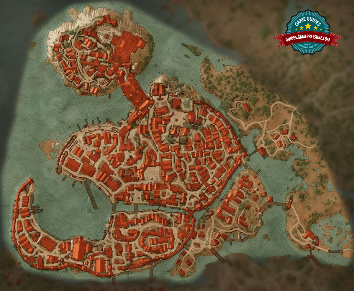 Map of quests - Free City of Novigrad M6 - Walkthrough - The Witcher 3 ...