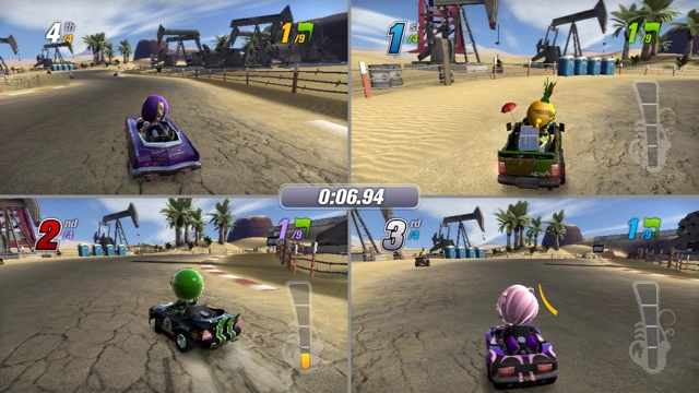 Tryb split-screen w grze ModNations Racers (2010). - 2012-12-17
