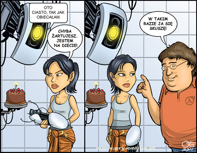 Cake is NOT a lie, komiks Cartoon Games, odc. 48.