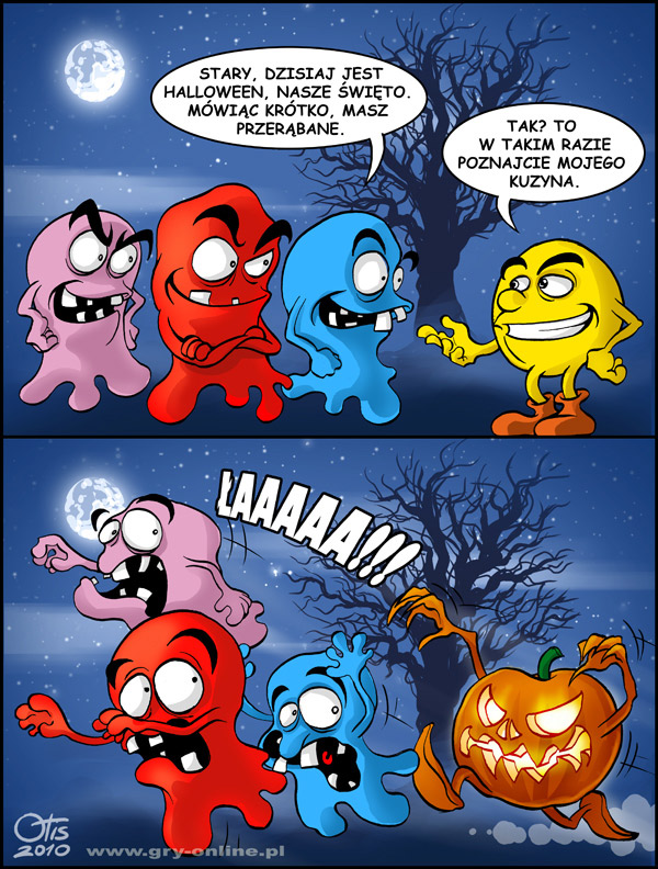 Halloween, komiks Cartoon Games, odc. 35.