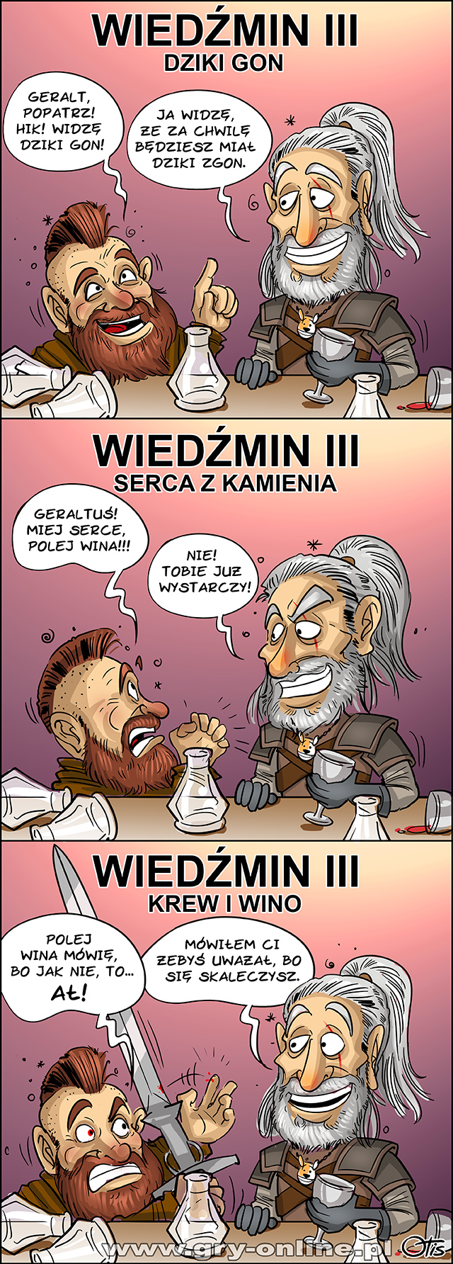 Wiedźmin 3 GotY, komiks Cartoon Games, odc. 184.