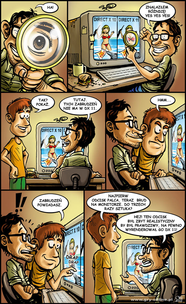 DirectX 11, komiks Cartoon Games, odc. 9.