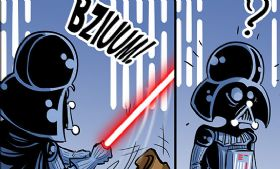 Komiks Cartoon Wars - odc. 101 - Darth Vader vs Obi-Wan
