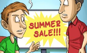 Komiks Cartoon Games - odc. 221 - Summer Sale