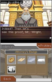 Phoenix Wright: Ace Attorney NDS Gry Screen 1/3, Capcom
