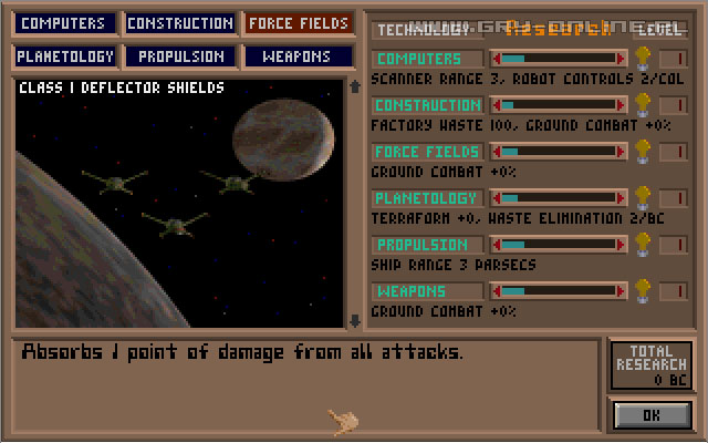 Master of Orion PC Gry Screen 1/3, SimTex, Microprose