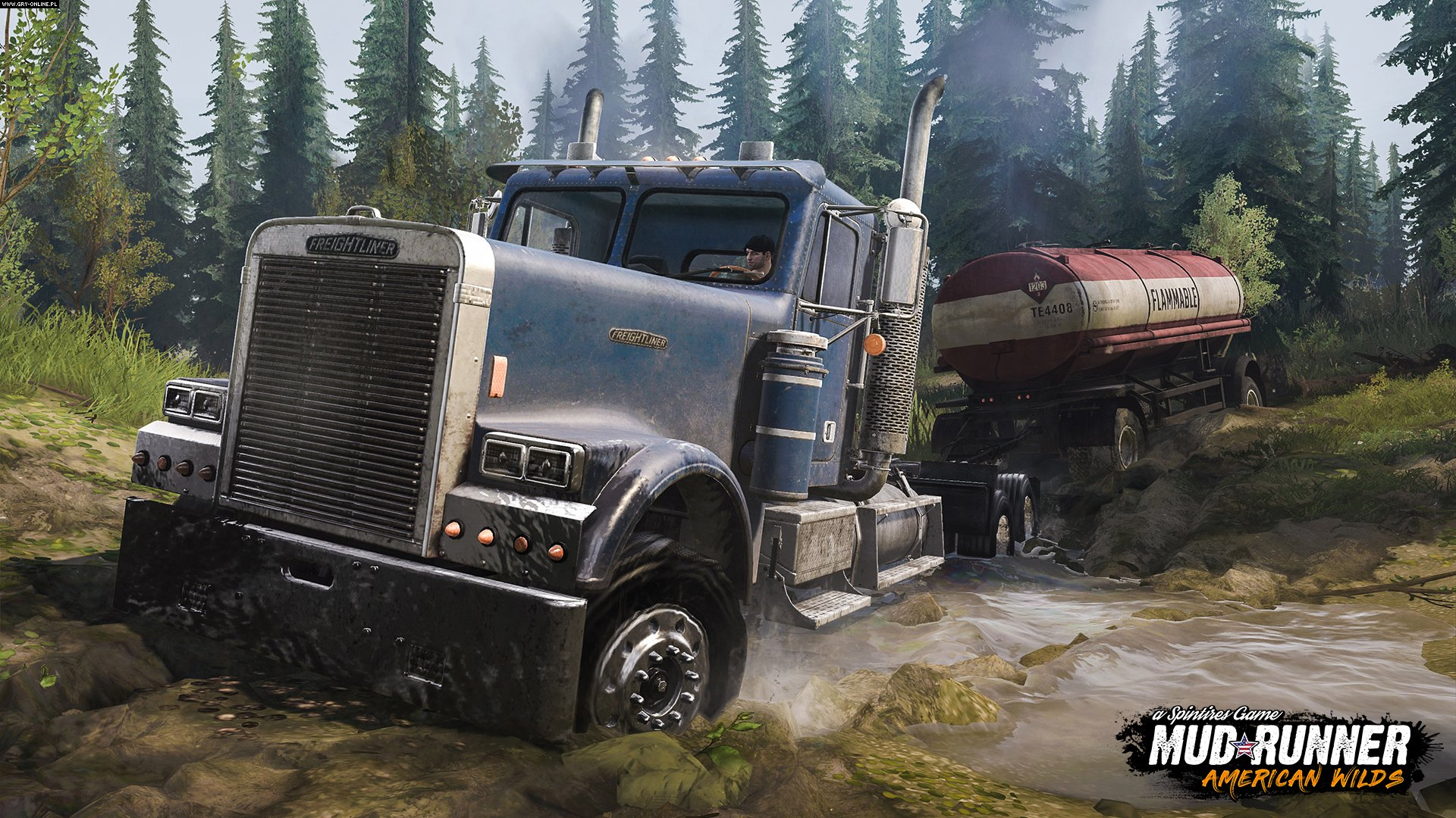 Spintires: MudRunner - American Wilds PC, PS4, XONE Gry Screen 1/3, Saber Interactive, Focus Home Interactive