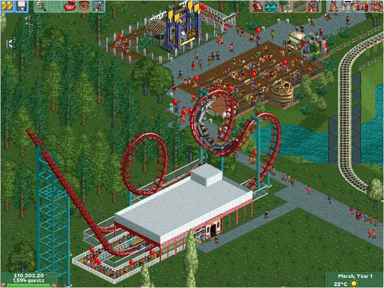 RollerCoaster Tycoon II PC Gry Screen 8/10, Frontier Developments, Atari / Infogrames
