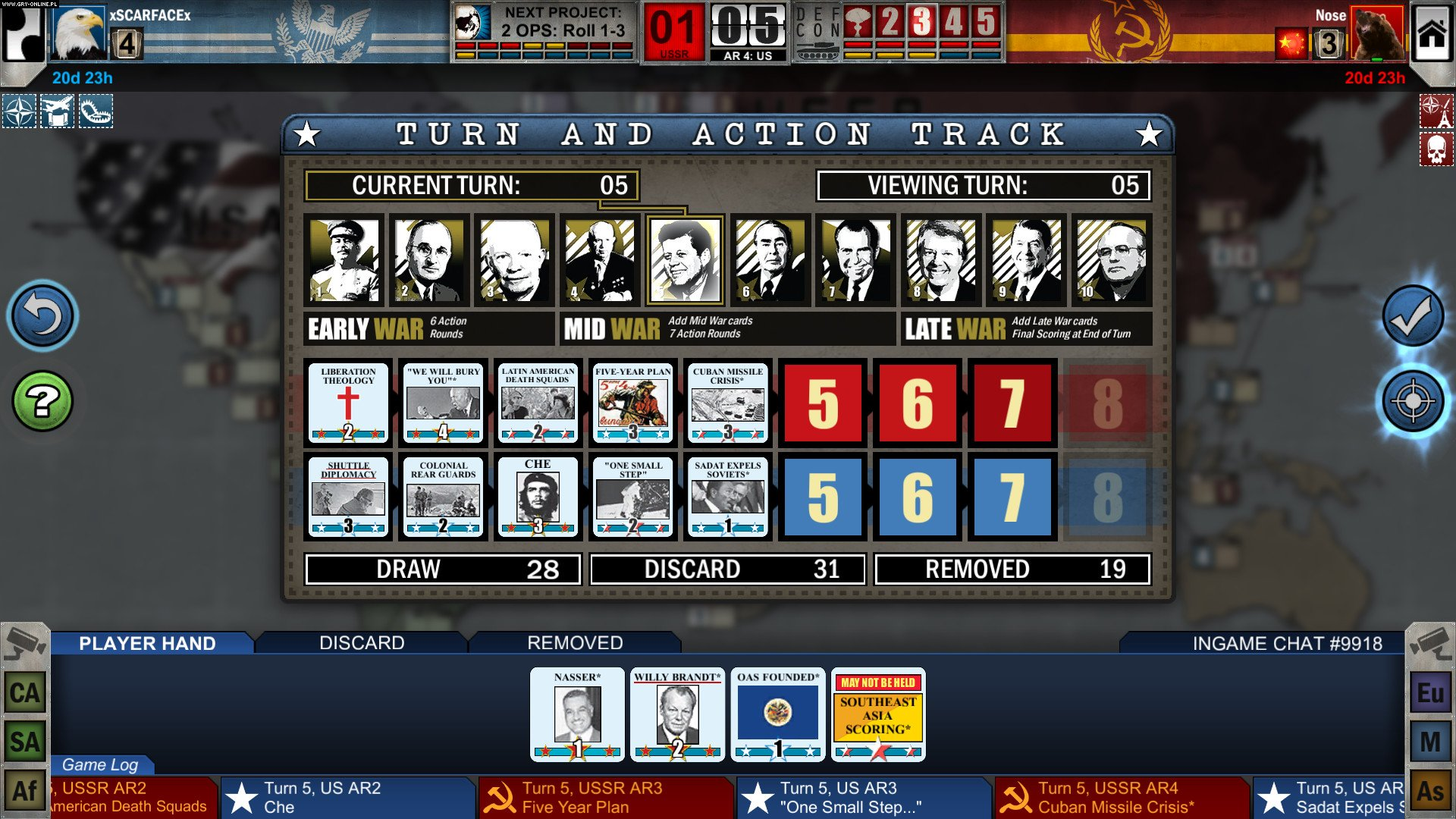 Twilight Struggle PC, XONE, PS4, PSV, AND, iOS Gry Screen 7/10, GMT Games