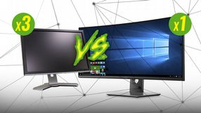 Trzy monitory 16:9 vs jeden ultrawide 21:9