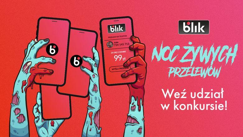 Noc Żywych Przelewów - szybka kasa do zgarnięcia w konkursie BLIKA!