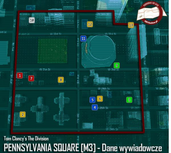 Tom Clancy's The Division - Pennsylvania Square M3 - Dane wywiadowcze