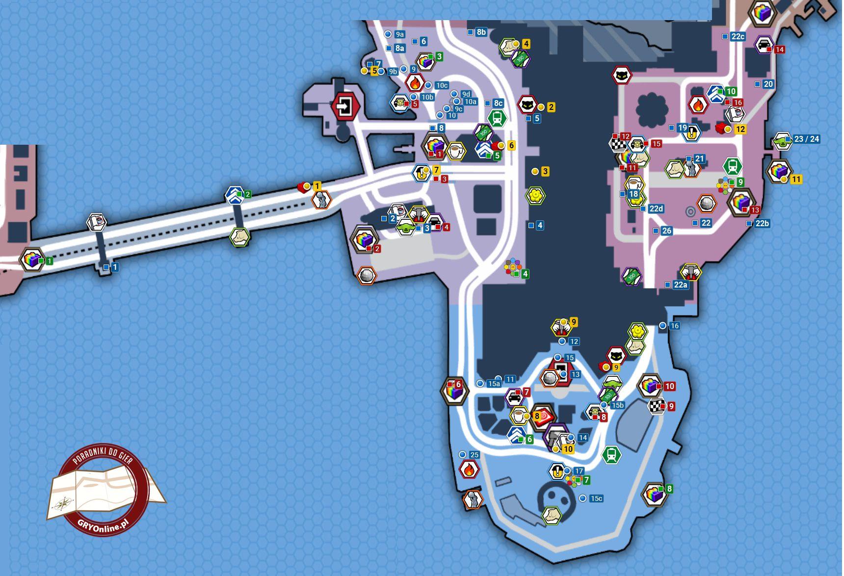 Obszar Południowo Wschodni Mapy Sekretów Lego City Tajny Agent