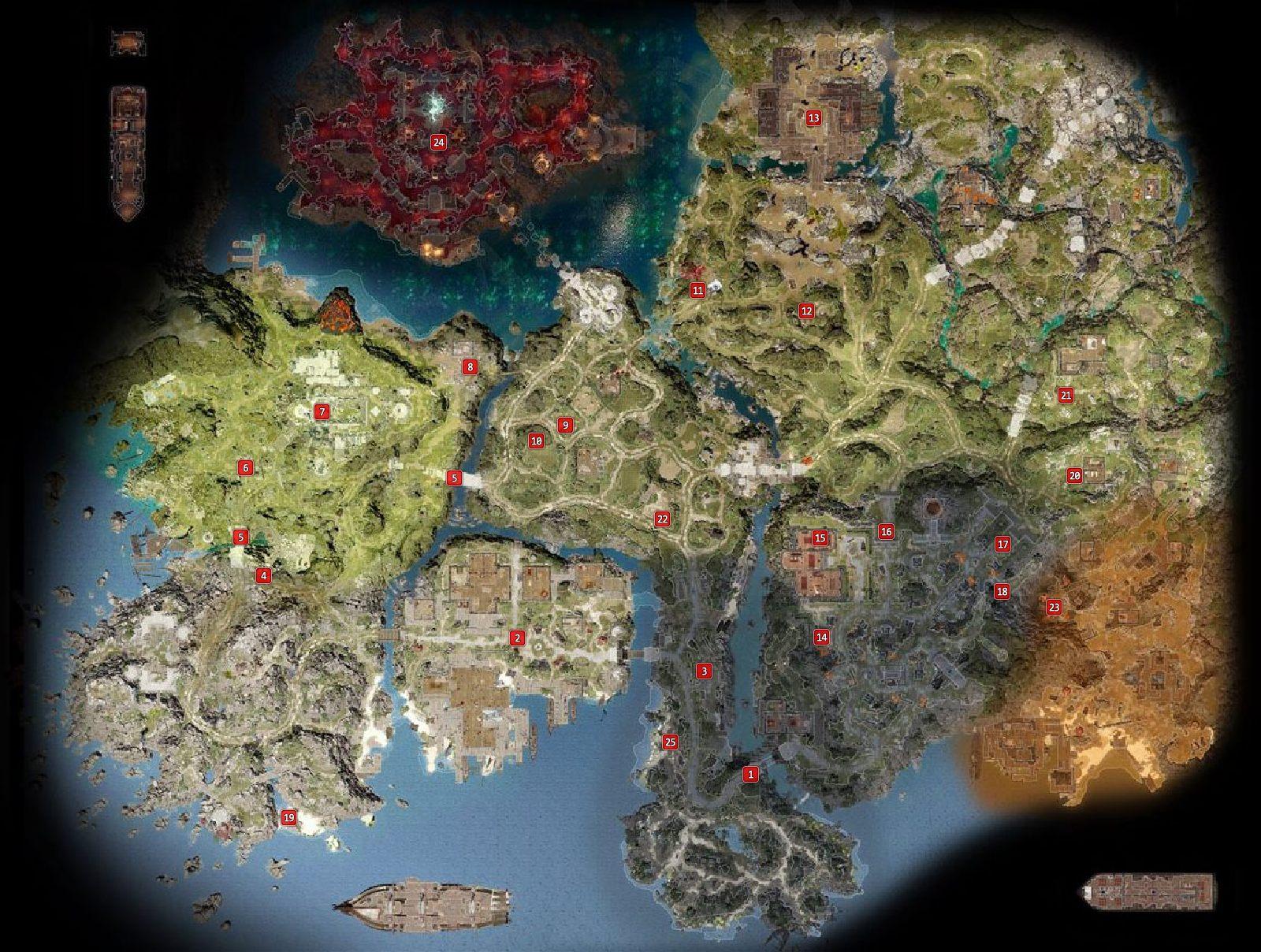 Reaper s Coast Mapa Zadania i questy