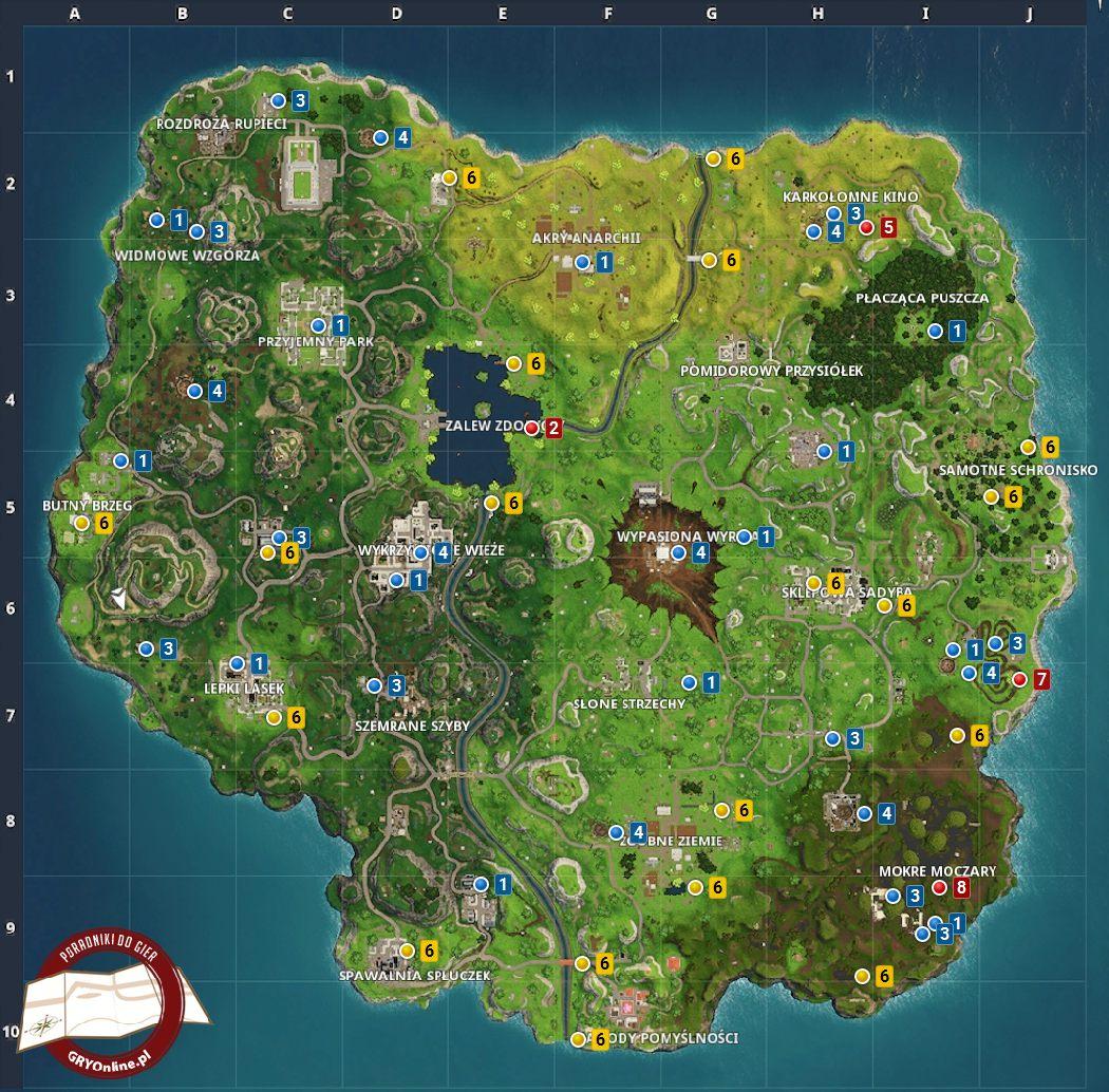 Fortnite battle royale mapa sezon 4 wyzwania