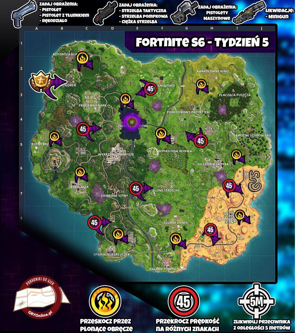 Co Nowego W Sezonie 6 Tydzień 5 W Fortnite Battle Royale Fortnite