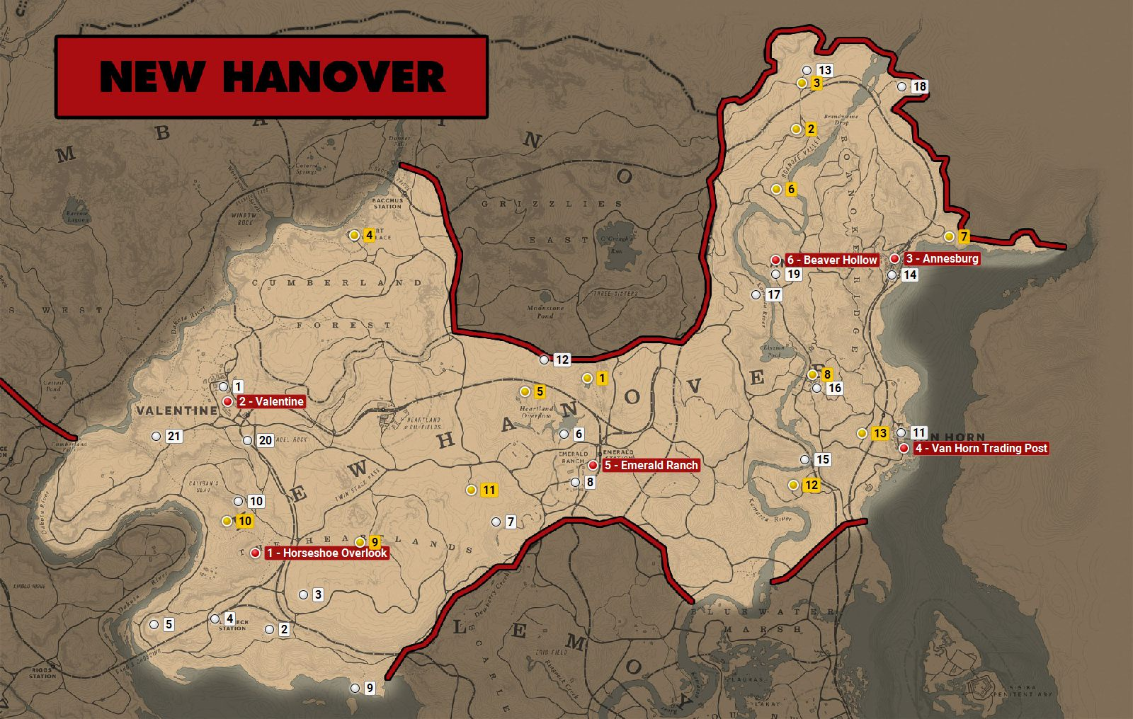 Mapa Red Dead Redemption.Mapa New Hanover W Red Dead Redemption 2 Red Dead