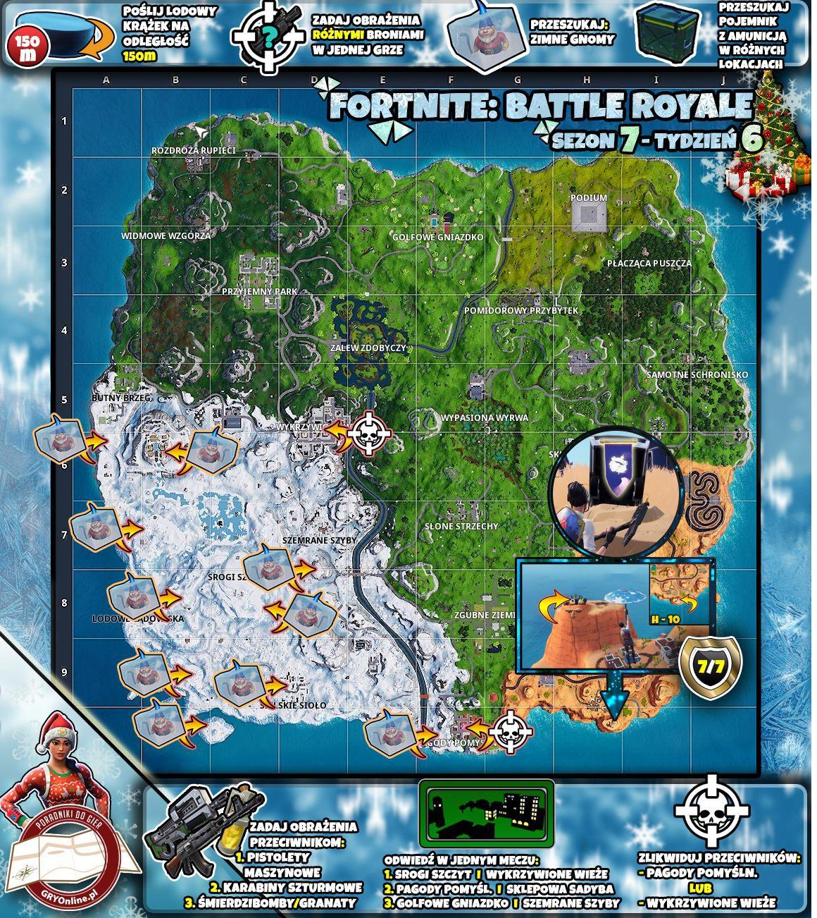 Mapa Wyzwań Sezon 7 Tydzień 6 Wyzwania Fortnite Battle Royale